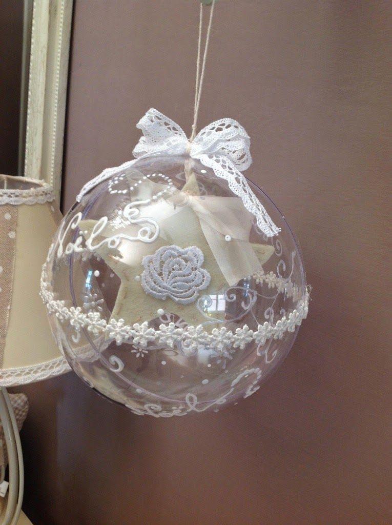 Palline di natale in vetro dipinte a mano cerca con for Decorazioni natalizie personalizzate