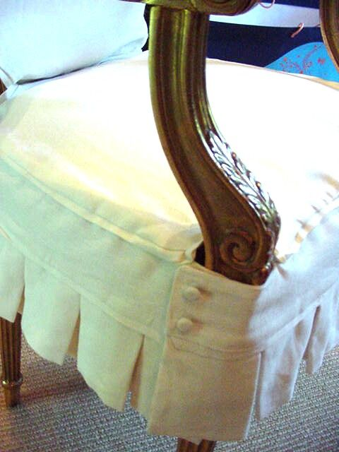 Im Sewing Slipcovers Monogrammed Dining Chairs In White Linen