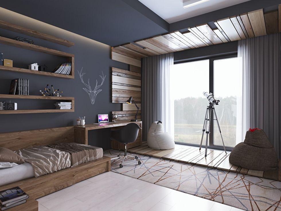 Подростковая комната в современном стиле - фото 2 | Дизайн ...