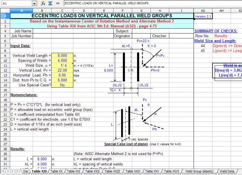 weldgrp by alex tomanovich weldgrp is a spreadsheet program written in ms excel for the purpose of analysis of weld groups using either the ultimate