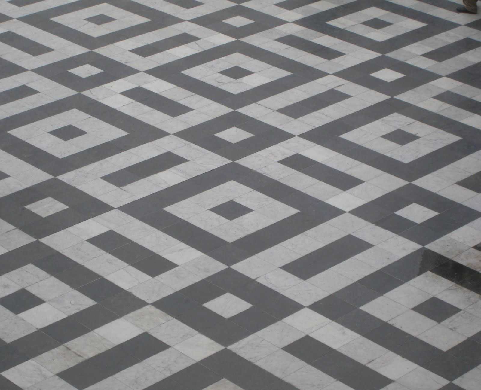 Antique floor mosaic from paris patroon 10x10 cm tegels