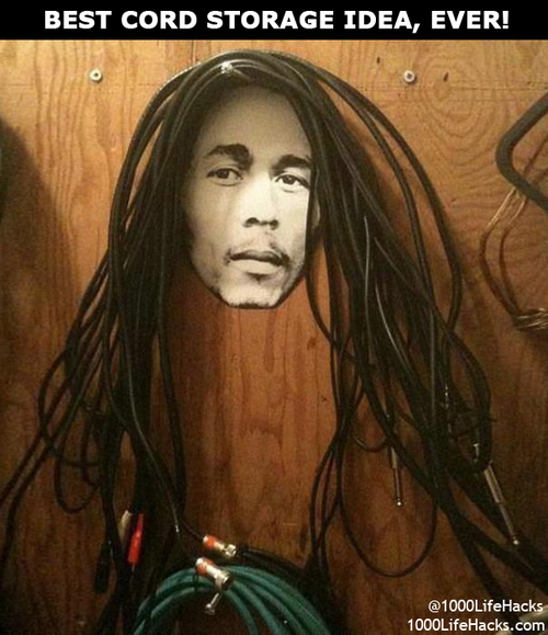 1000 Life Hacks - Best cord storage idea ever!