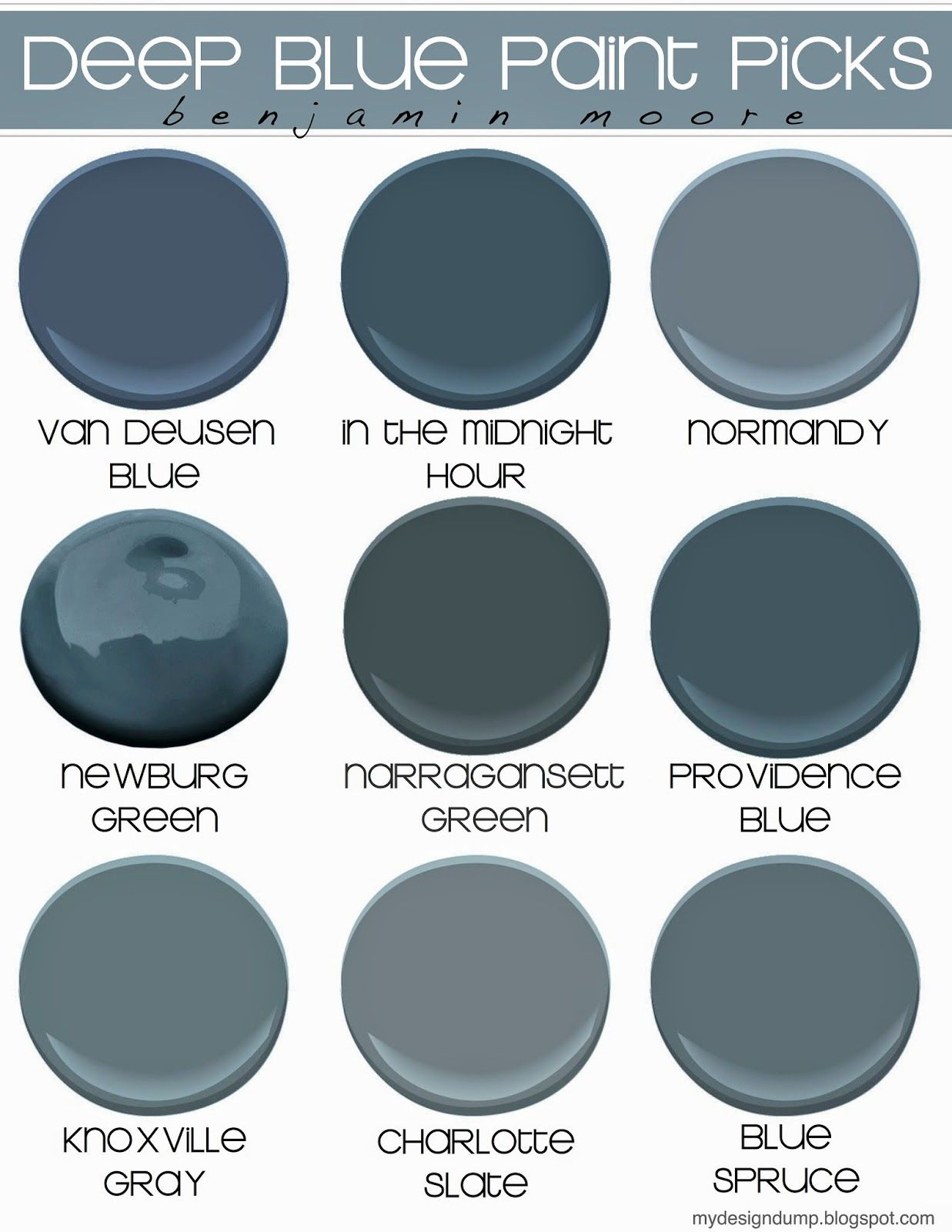 Dark blue paint colors - Deep Blue Moody Blue Paint Picks Benjamin Moore Design Dump