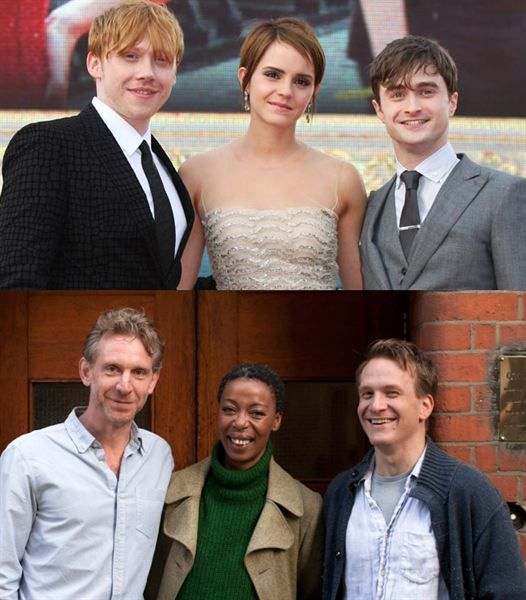 Ron, Hermione e Harry Potter