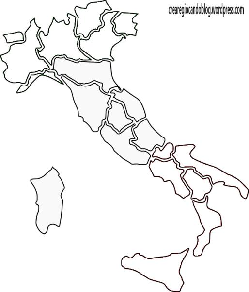 Cartina Dell Italia Divisa Per Regioni.L Italia In Un Puzzle Per Imparare Regioni E Posizioni Per