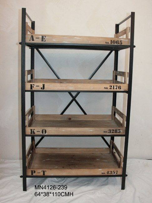 industrial wood and metal shelves - Google Search | Office/Library ...