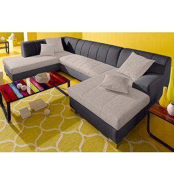 INOSIGN Wohnlandschaft, wahlweise mit Bettfunktion Jetzt bestellen - wohnzimmer orange beige