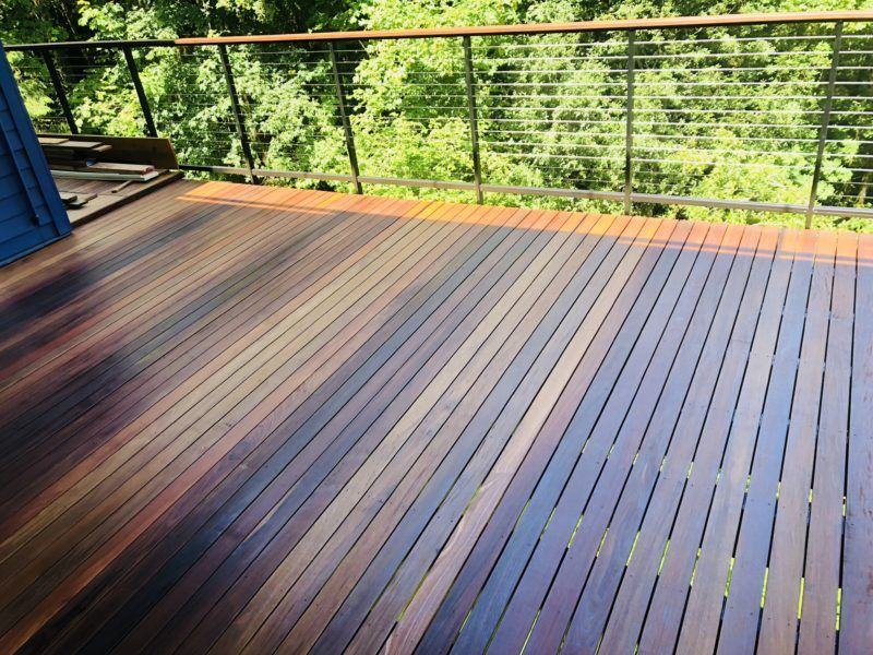 Ipe deck with cable railing | Cable railing, Mid century