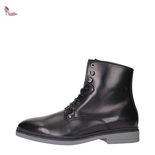 45 Fm4he2lea10 Cuir Chaussures Guess Bottines Noir Homme xH0dntwXq