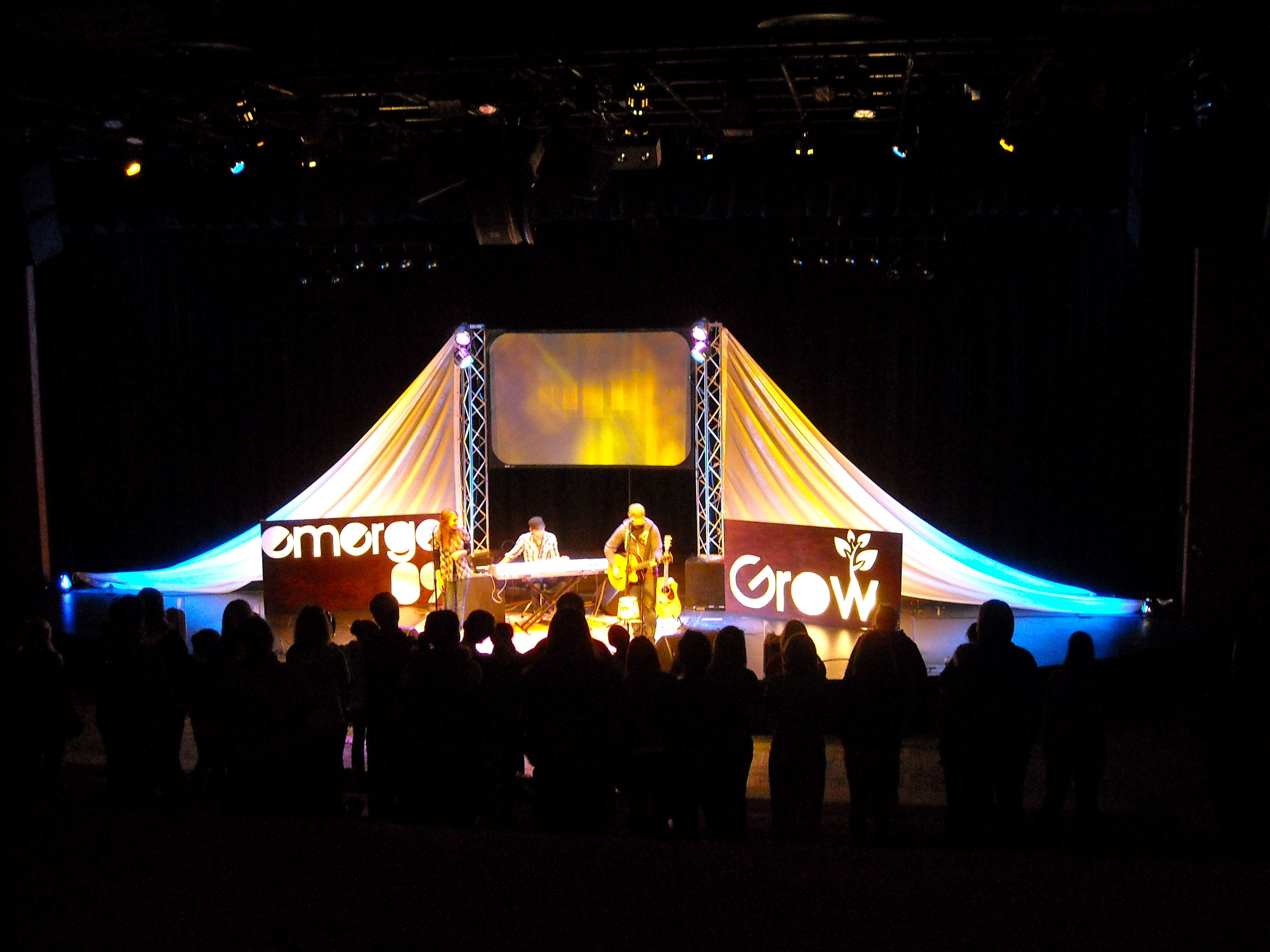 Church Stage Fabric - Another Cool Stage Design By Christopher