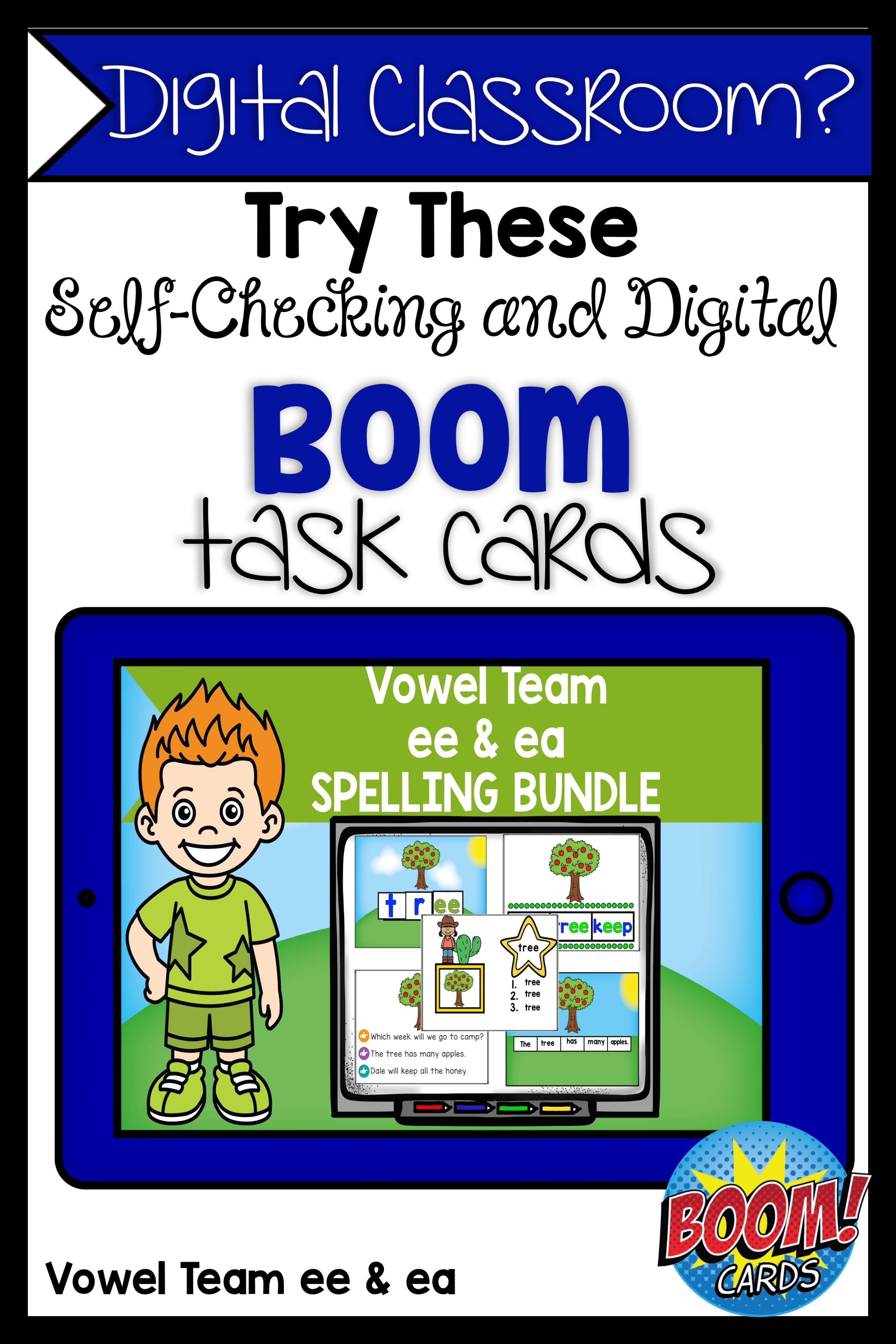 Boom Cards Vowel Team Ee And Ea Bundle