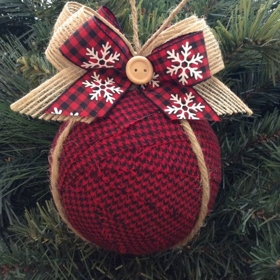 Adornos / ornamentos de tela de Navidad / adornos de árbol de