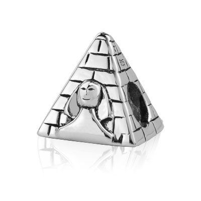 Sterling Silver Egypt Pyramid Charm ,fits Pandora And All