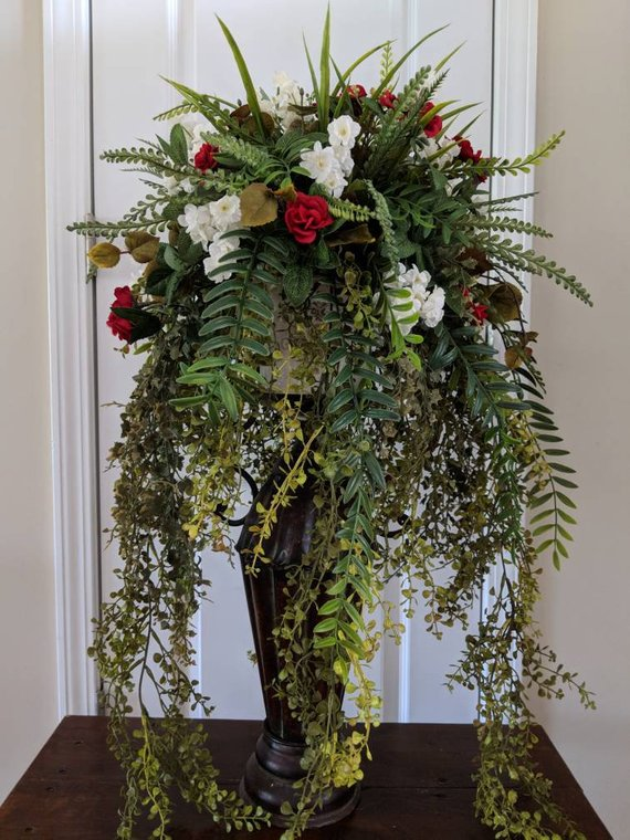 Fl Arrangement Plant Stand Candlestick Wedding Decor