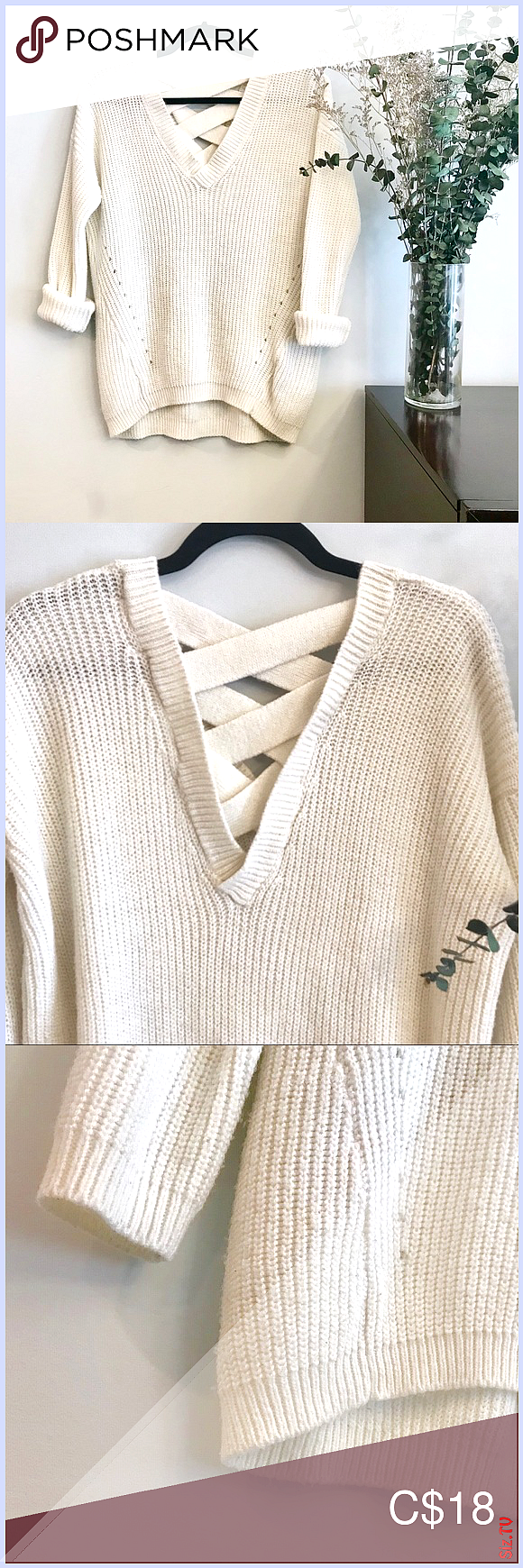 Sweater With Crisscross Back Details Sweater With C Sweater With Crisscross Back Details Sweater With C Judy Simeon Judy Detailed Sweater Sweaters Bun Outfit [ 1740 x 580 Pixel ]