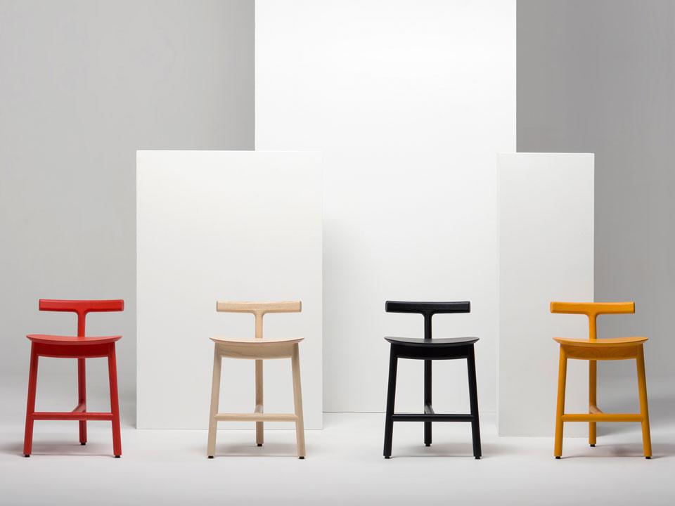 Sgabelli Radice, design Industrial Facility e Sam Hecht per Mattiazzi