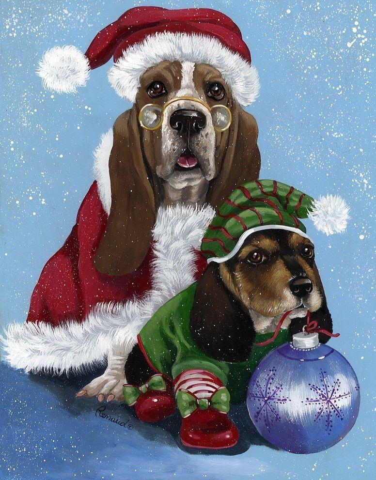 Новогодние собачки картинки нарисованные