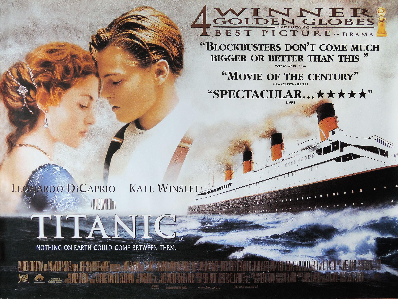 Poster Image Starring Leonardo Dicaprio Kate Winslet Billy Zane