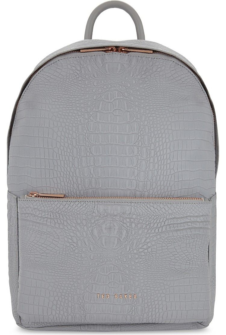59855ffe7 TED BAKER - Rahri reflective crocodile-embossed backpack ...