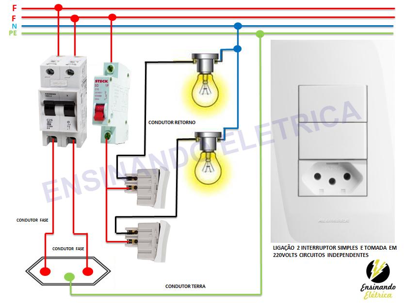 Eletrica Residencial Ligando Tomadas Ensinando Eletrica Dicas E Ensinamentos Eletrica Residencial Como Fazer Instalacao Eletrica Eletricista Residencial