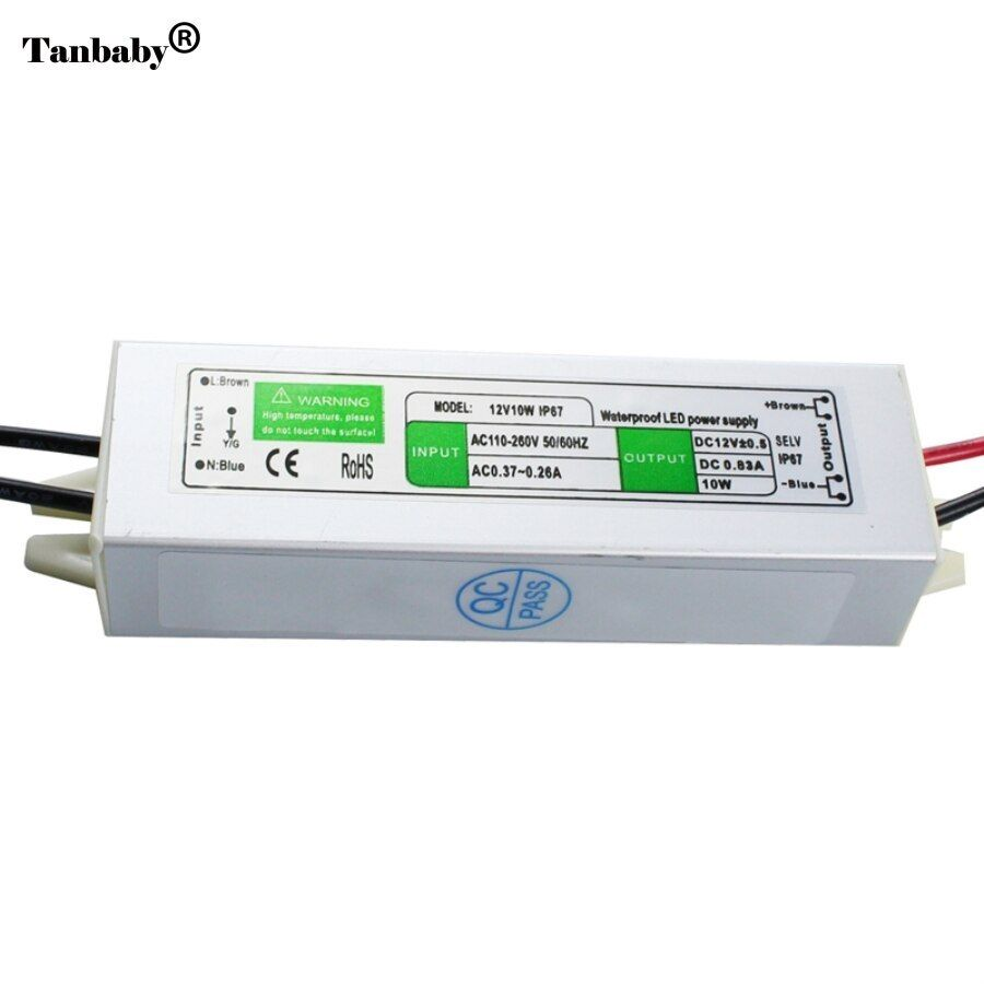 Dc12v 10w Ip67waterproof Led Driver Power Supply Aluminum Alloy Transformer Ac110 260 To 12 Volt Dc Output Dc12v I Led Drivers Aluminium Alloy Acrylic Phone