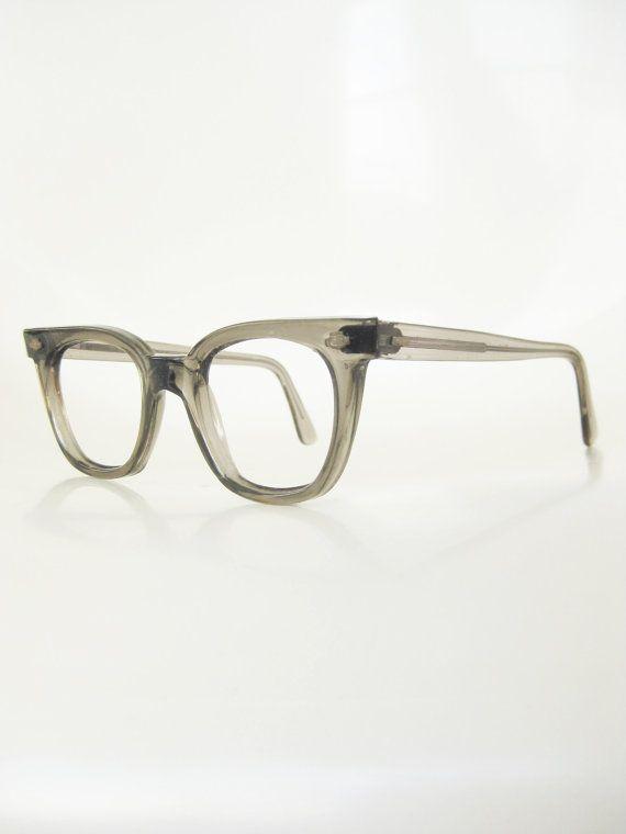 15b2186044ab Vintage Mens Horn Rim Eyeglasses 1950s Glasses Titmus USA American ...
