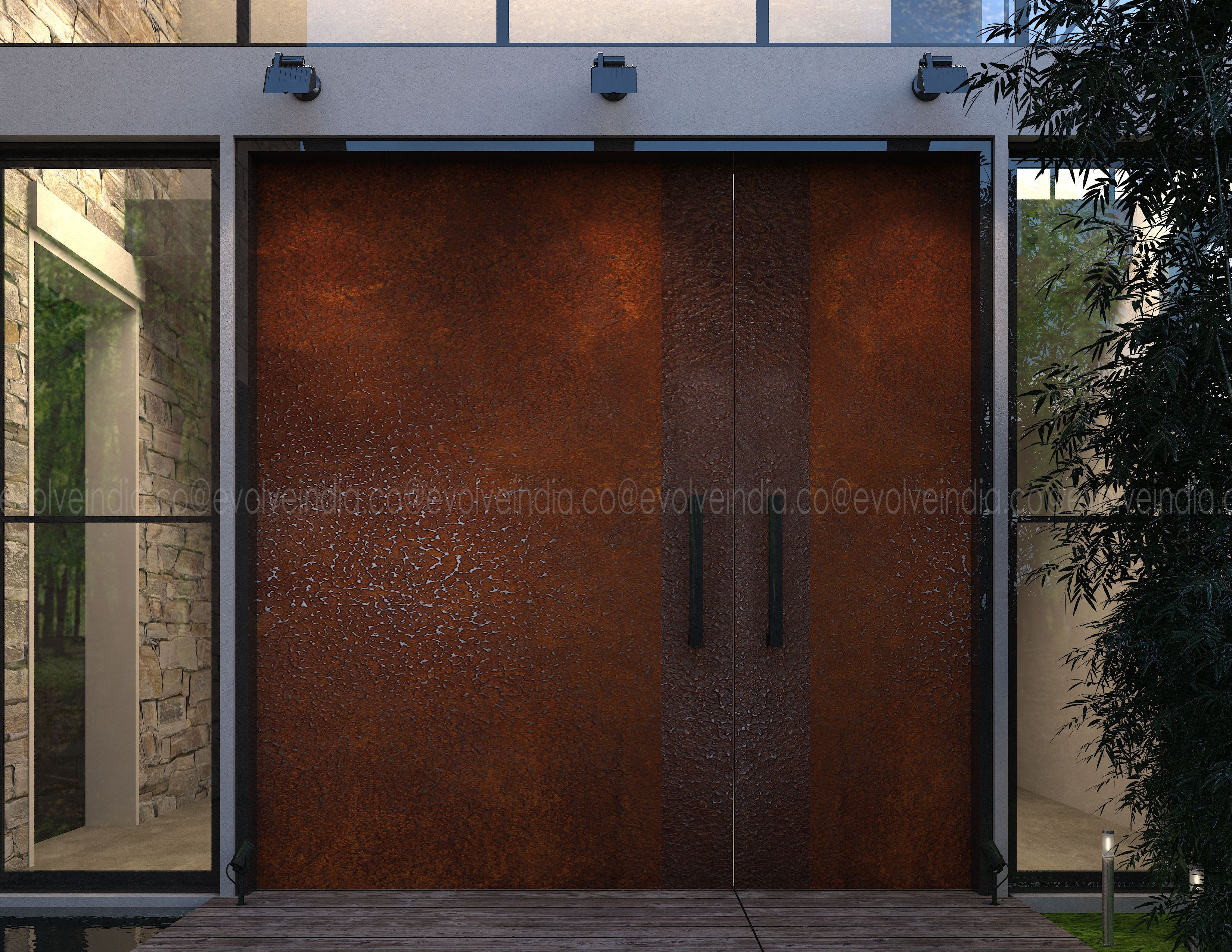 Evolveyoursurface Rustfinish Doorskins Exterior Doordesign Exteriordesign Exteriorinspiration In 2020 Concrete Decor Exterior Solutions Decorative Wall Panels