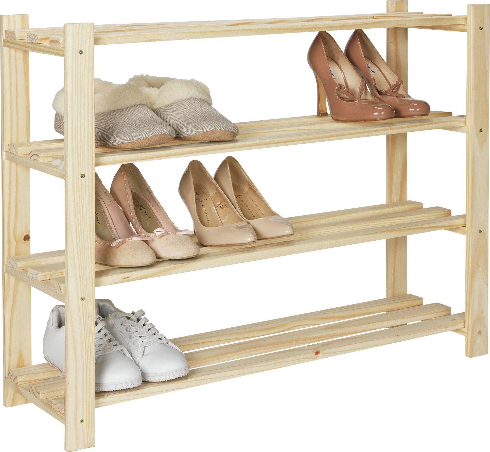 Hallway furniture shoe storage  argos uk HOME  Shelf Shoe Storage Rack  Solid Unfinished Pine