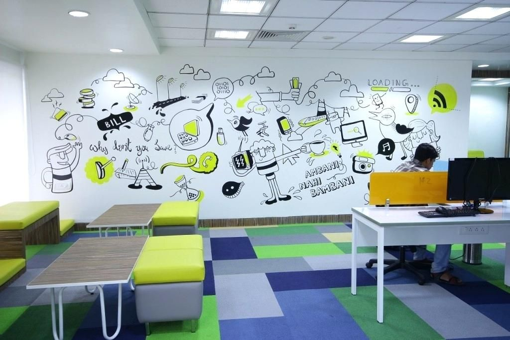 100 Most Beautiful Office Wall Design Ideas That Will Inspire