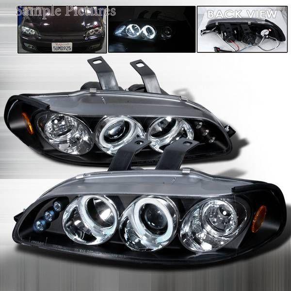 Spec D 92 95 Honda Civic 2 3dr Halo Projector Headlights Black Honda Civic Hatchback Honda Civic Civic Hatchback