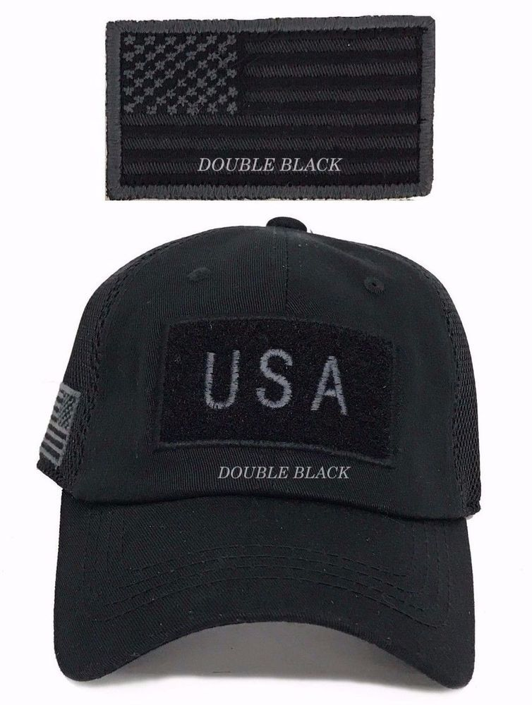 0a1055017a5 USA American Flag Tactical Operator Hat Military Mesh Trucker Baseball Cap  Black  Clover  BaseballCap