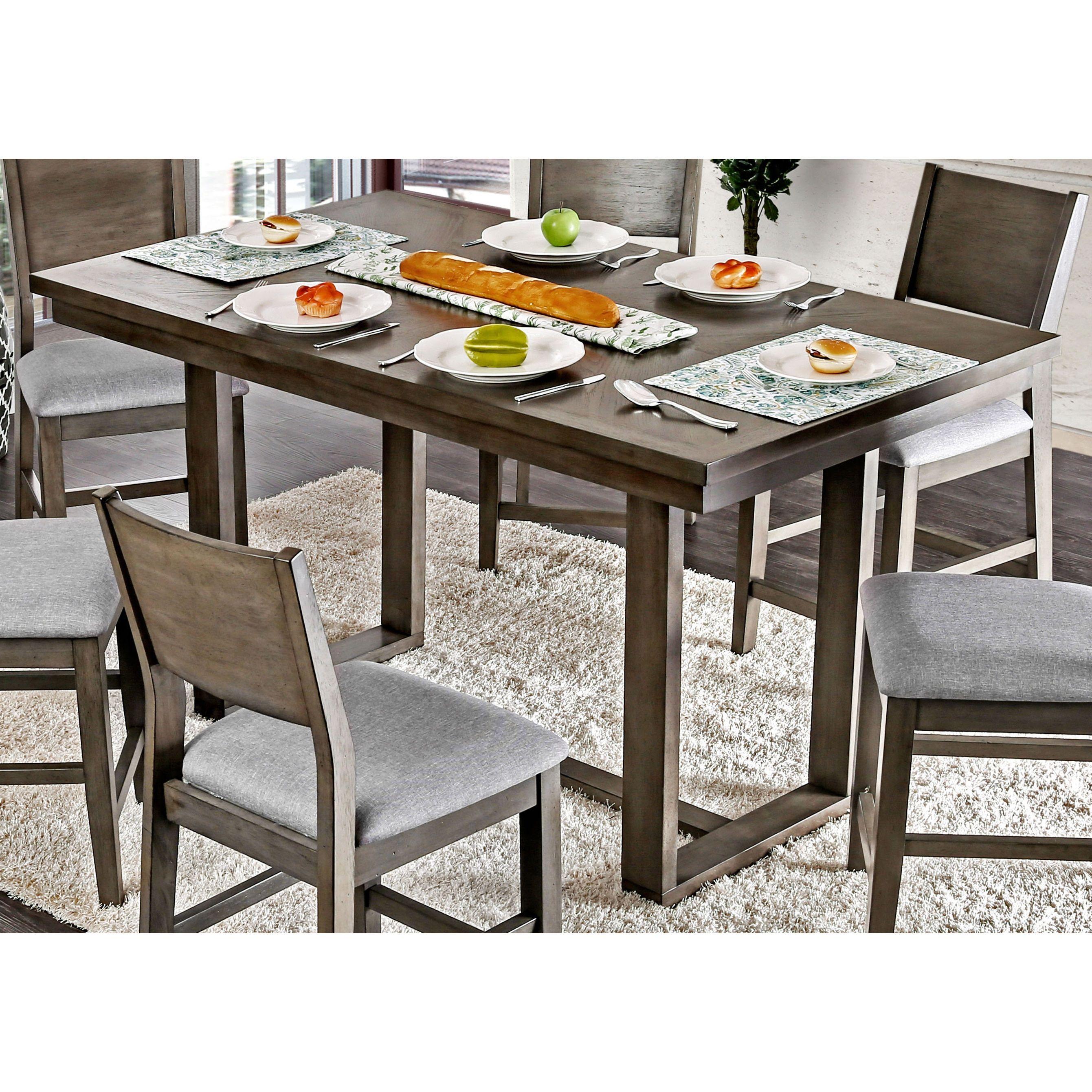Furniture of america timpton contemporary grey 66 inch counter furniture of america timpton contemporary grey 66 inch counter height table grey watchthetrailerfo