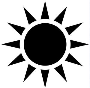 Black Sun Free Images At Clker Com Vector Clip Art Online Royalty Free Public Domain Sun Clip Art Palm Tree Clip Art Sun Tattoo