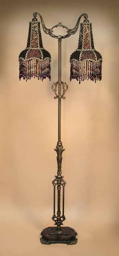 Antique Floor Lamps Beaded Victorian Lamp Shades By Antique
