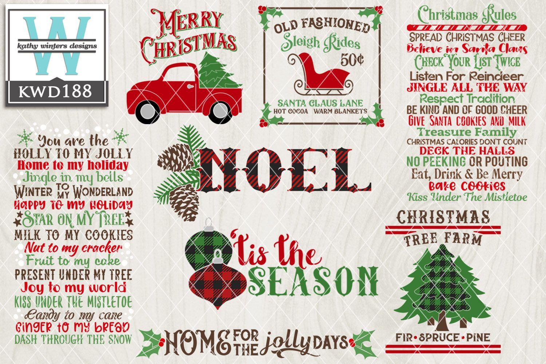 Christmas Svg Christmas Bundle Kwd188 Christmas Svg Christmas Themes Christmas Fonts