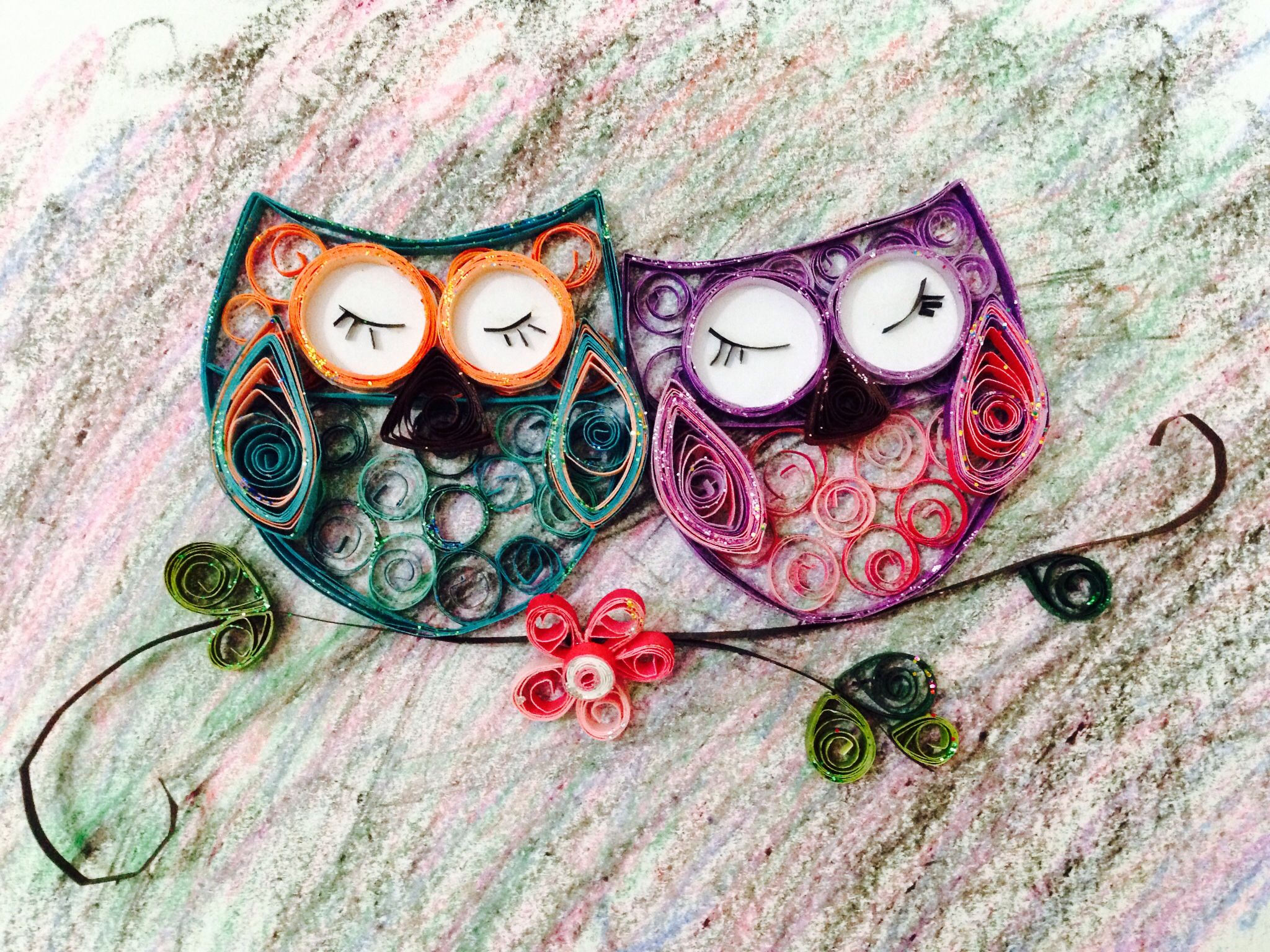 Quilled owls my work pinterest owl quilling and for Paper quilling work