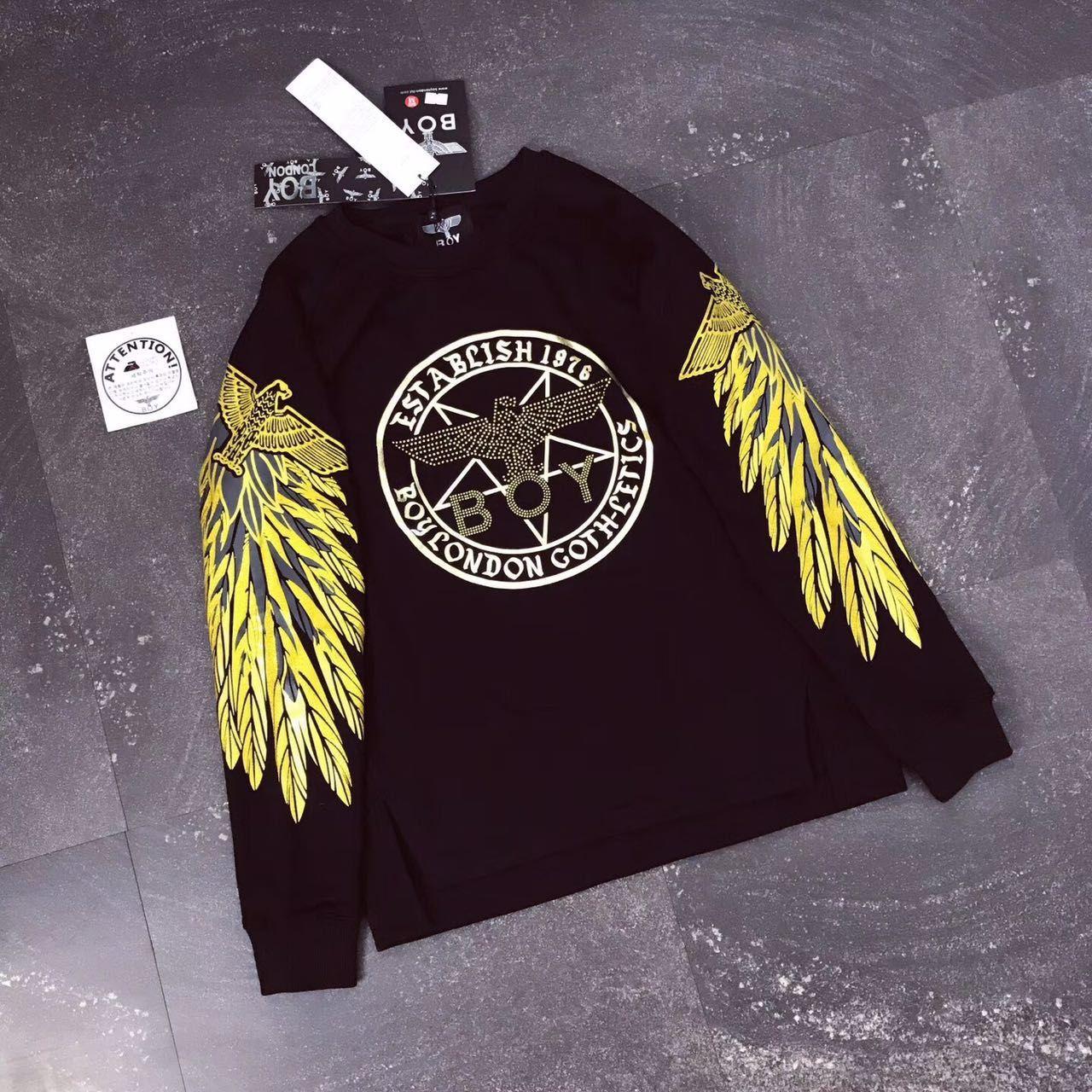 Boy London Oversize Sweatshirt With Gold Embroidery Pf4452 Giyim [ 1280 x 1280 Pixel ]
