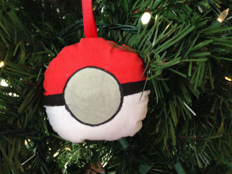 Pokemon Pokeball Christmas Ornament Video Game Gaming Gamer Go ...