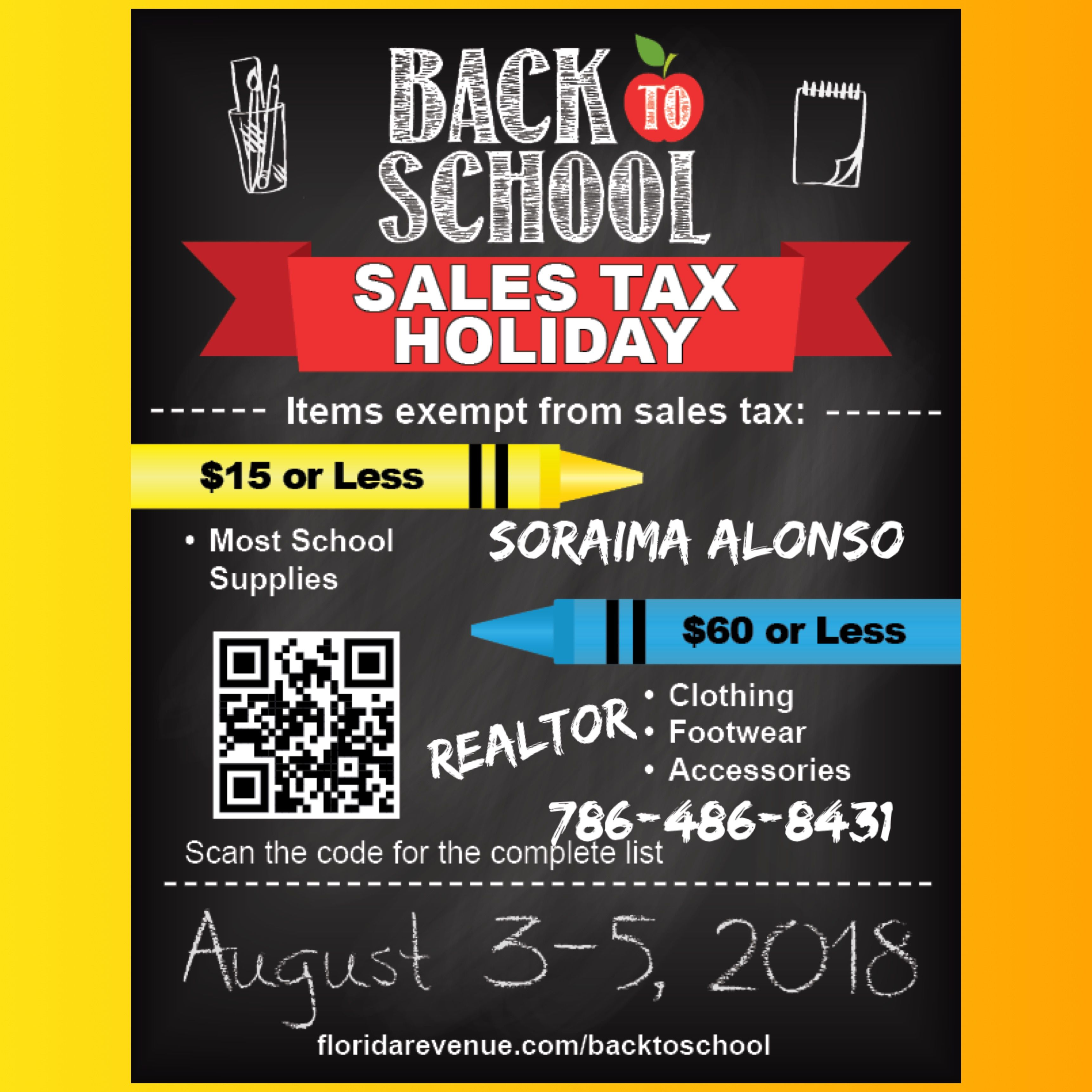 Good Morning Back To School Tax Free Weekend 2018 Florida Dates
