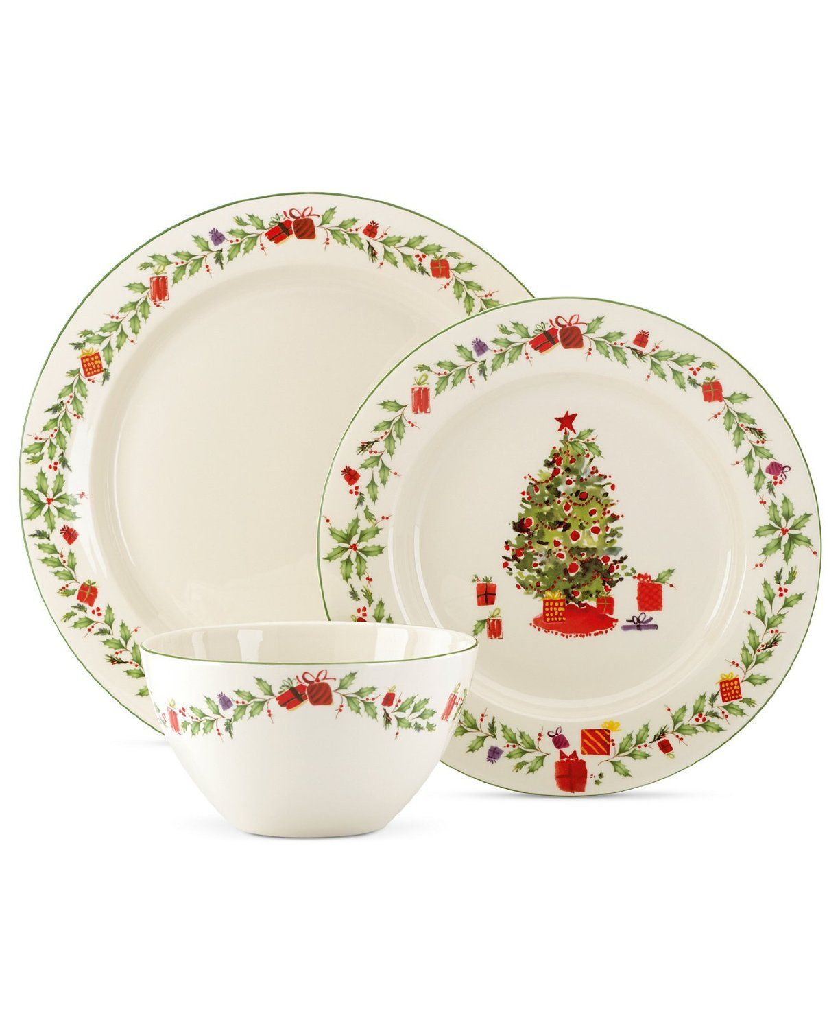 Lenox Holiday 3 Pc Place Setting With Images Christmas Dinnerware Christmas Settings Christmas Place Settings