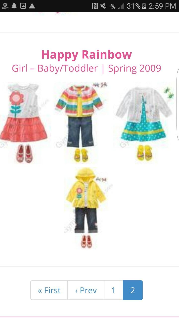 Happy Rainbow. Love. Have Dress and Pink flower shirt/jeans/hat/sunglasses in 2t   Want entire line for 3t summer!