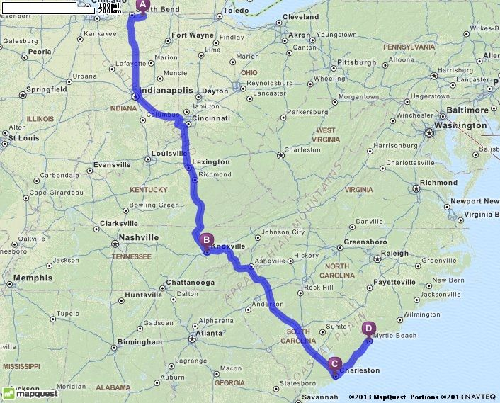 Driving Directions from 58421 Walter Ct, Goshen, Indiana 46528 to ...