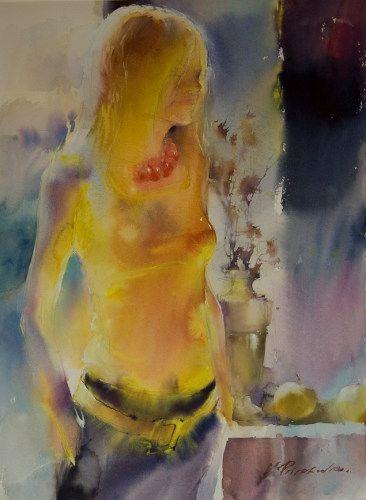 Viktoria Prischedko Kunst Aquarell Aquarellbilder Aktzeichnung