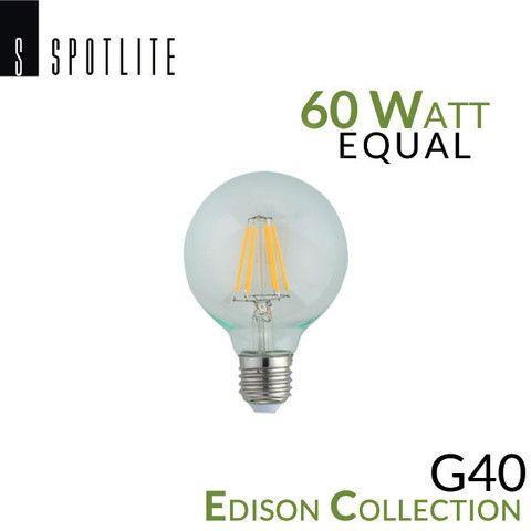 Spotlite Usa Edison Collection Vintage Led G40 E26 Filament Bulb 5 Watt 60 Equal
