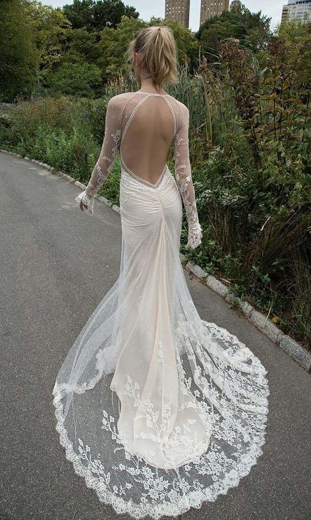 Bruidsjurk kant rug