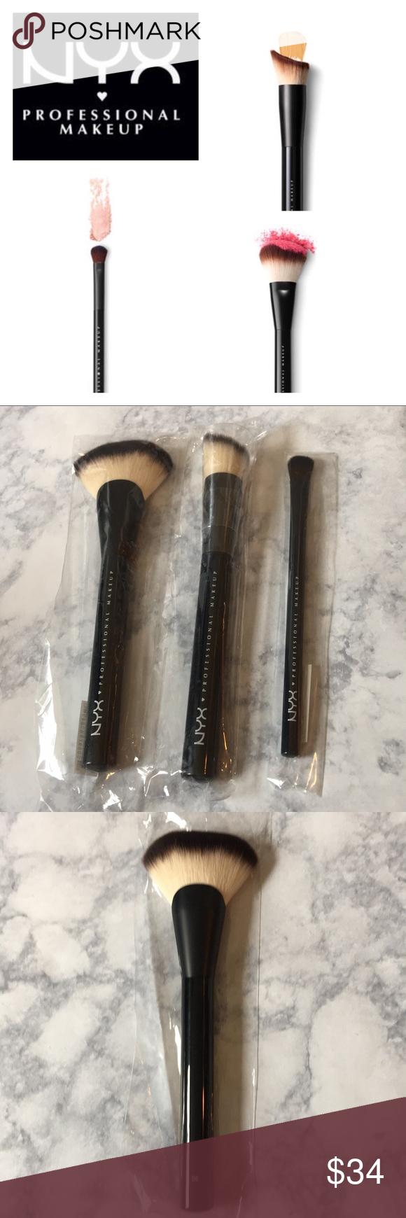 NYX • Brush Bundle Nyx brushes, Shadow brush, Loose powder