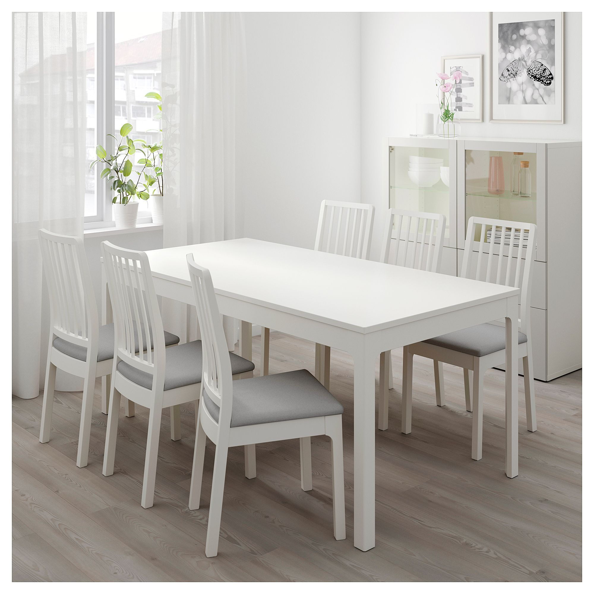 5cfe1fbe228 IKEA - EKEDALEN   Table and 6 chairs white
