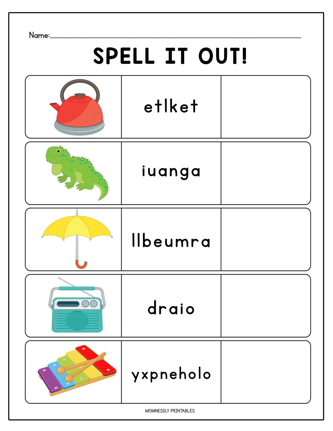 hight resolution of Toddler Worksheets Spelling   Printable Worksheets and Activities for  Teachers