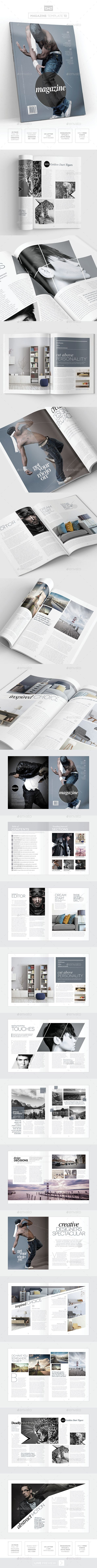 Magazine Template - InDesign 24 Page Layout V13 | Template, Print ...
