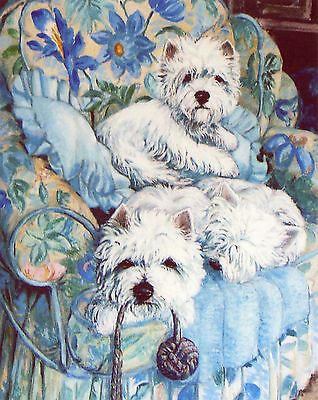 West Highland White Westie Dogs Art Limited Edition Print The